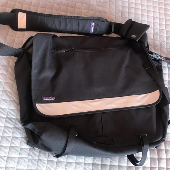 Patagonia Bags Black Messengerlaptop Bag Poshmark